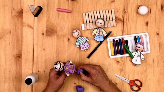 Muñecos de Pinza